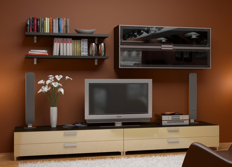 модульные системы для гостиной фото без телевизора