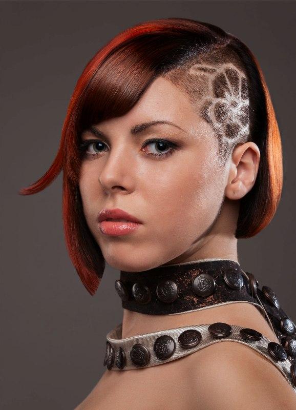 креативные стрижки средних волос в картинках как устроить