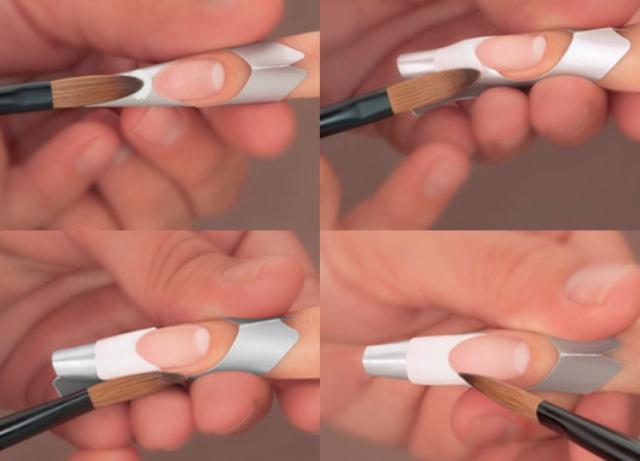 Наращивание ногтей гелем френч: видео и фото уроки