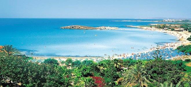 кипр фото пляжа нисси бич
