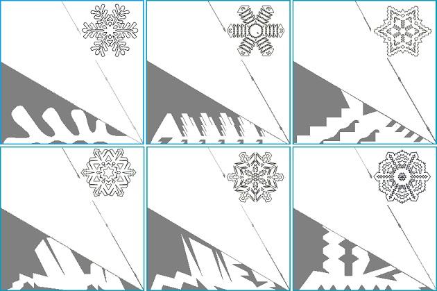 Сделать объемную снежинку своими руками схемы фото 959
