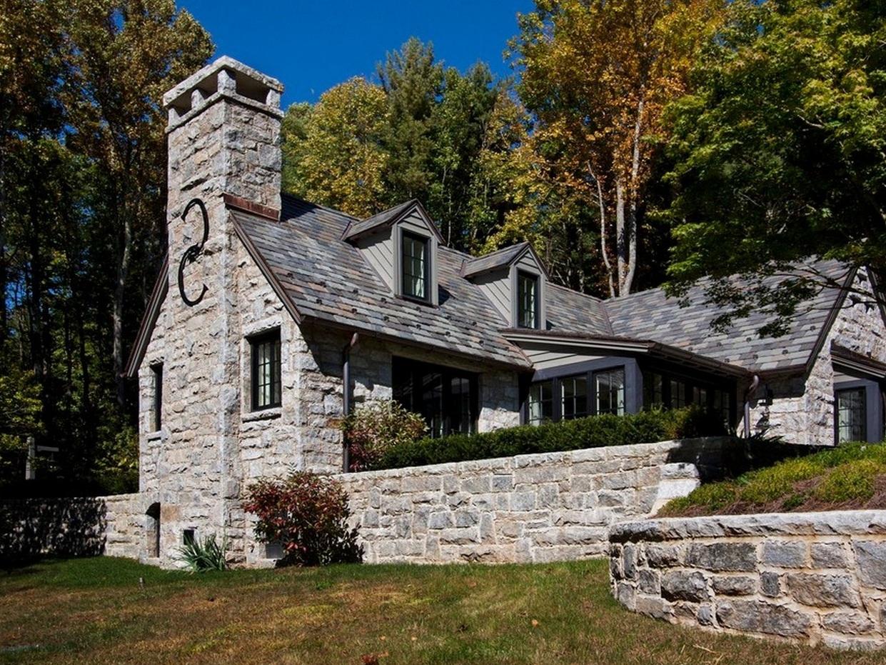 фото красивые дома из натурального камня этом кладе