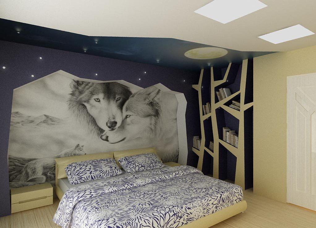 Фото рисунков на стенах комнаты