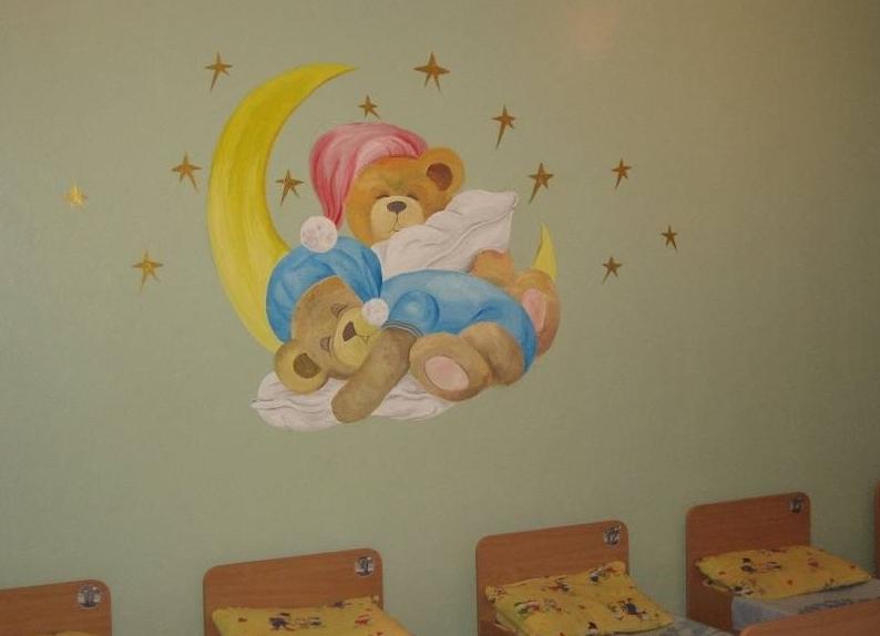 Картинки в спальню в детский сад на стену