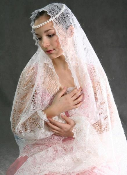 вязание оренбургского платка