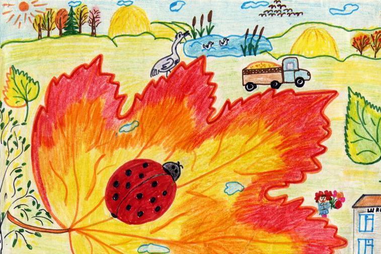 Осень картинки своими руками карандашом