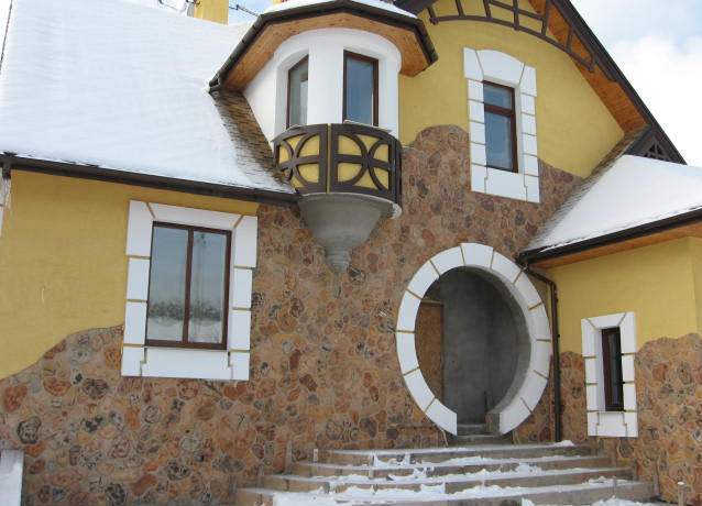 декоративная штукатурка для фасада дома своими руками