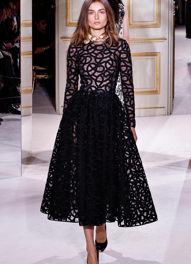 Модные платья из гипюра и кружева: фото известных моделей 11