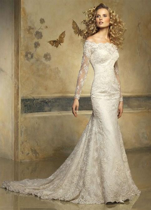 свадебное платье рыбка кружевное со шлейфом фото