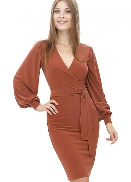 86c33f28c6ca505 ... платье с эффектом запаха 2 ...
