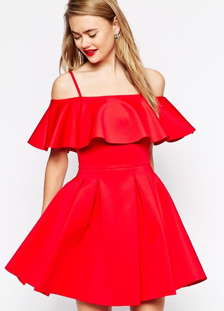 ... Платье с воланом на плечах2 ... 76913a40844