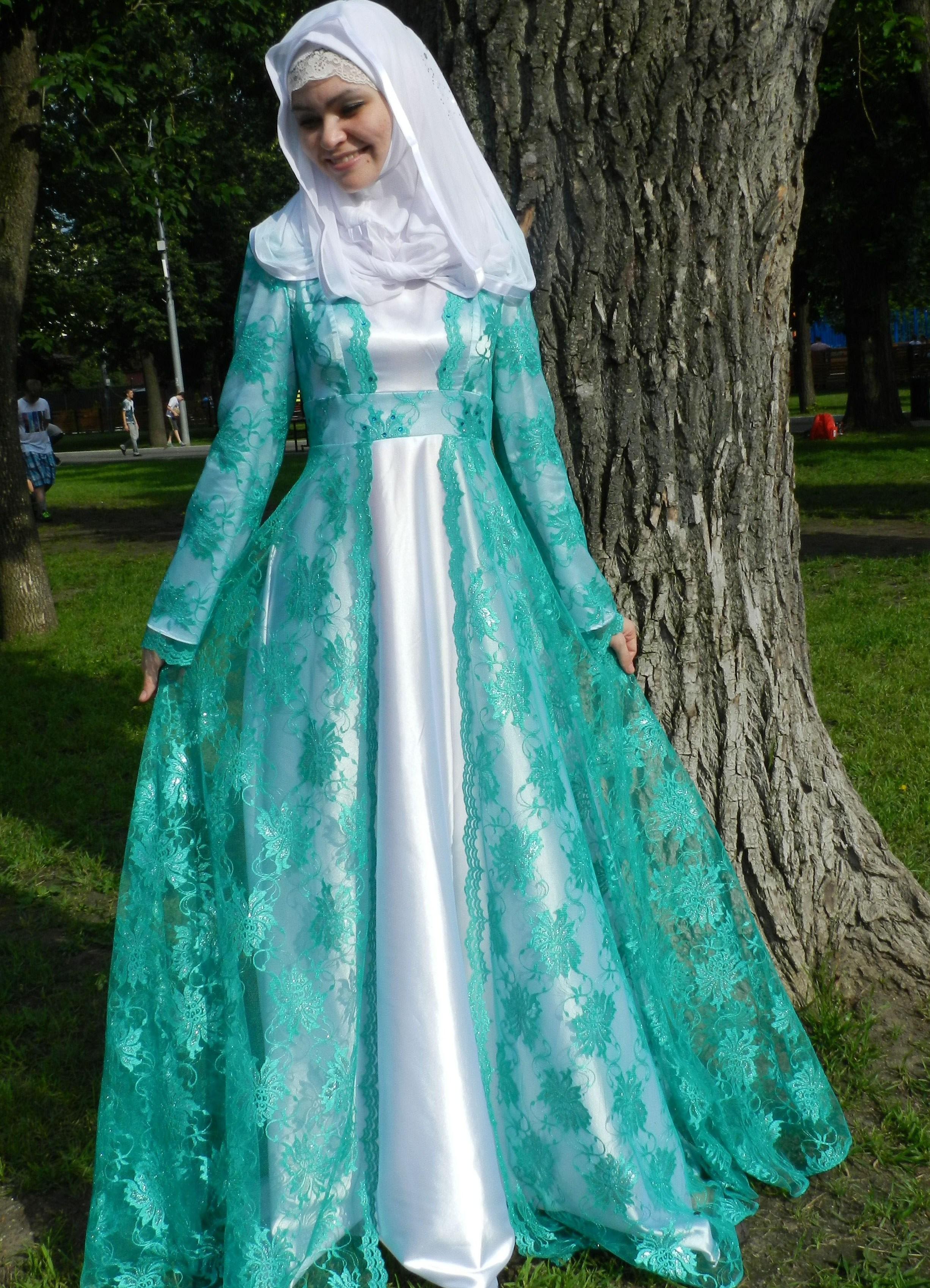Красивые мусульманские платья для никаха картинки