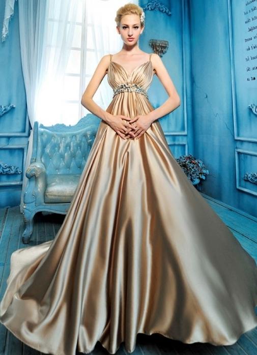 платье из шёлка фото