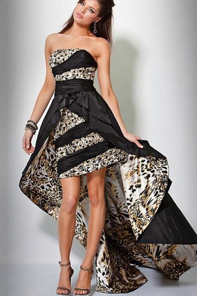 e6158ce9d44 ... Короткие вечерние платья со шлейфом 3