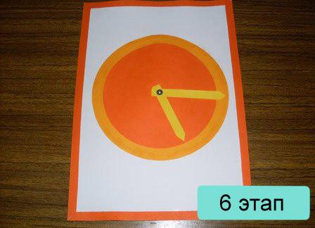 Модель циферблата часов для детей из бумаги своими руками 27