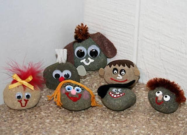 Рисунки из камней МОРЕ творческих идей для детей 42