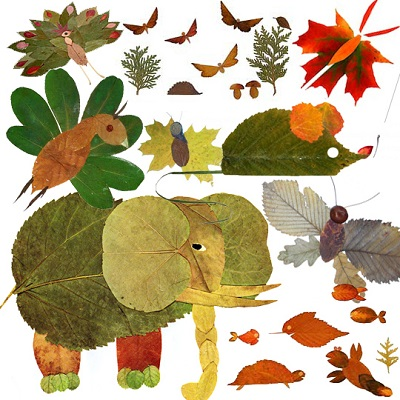 сухих картинки бумаге на из листьев