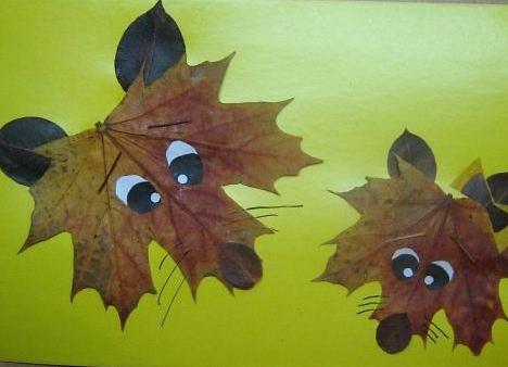 Как сделать подделку из листьев фото 21