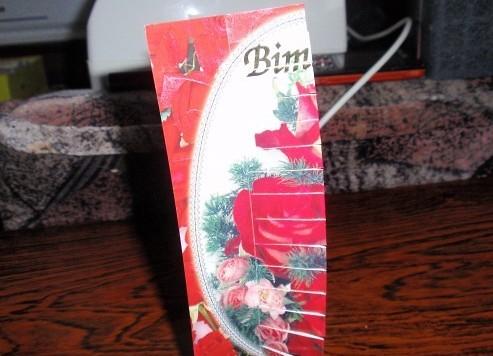 Поделки из открыток закладки