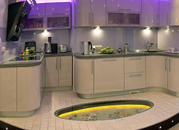 фото кухни с подсветкой