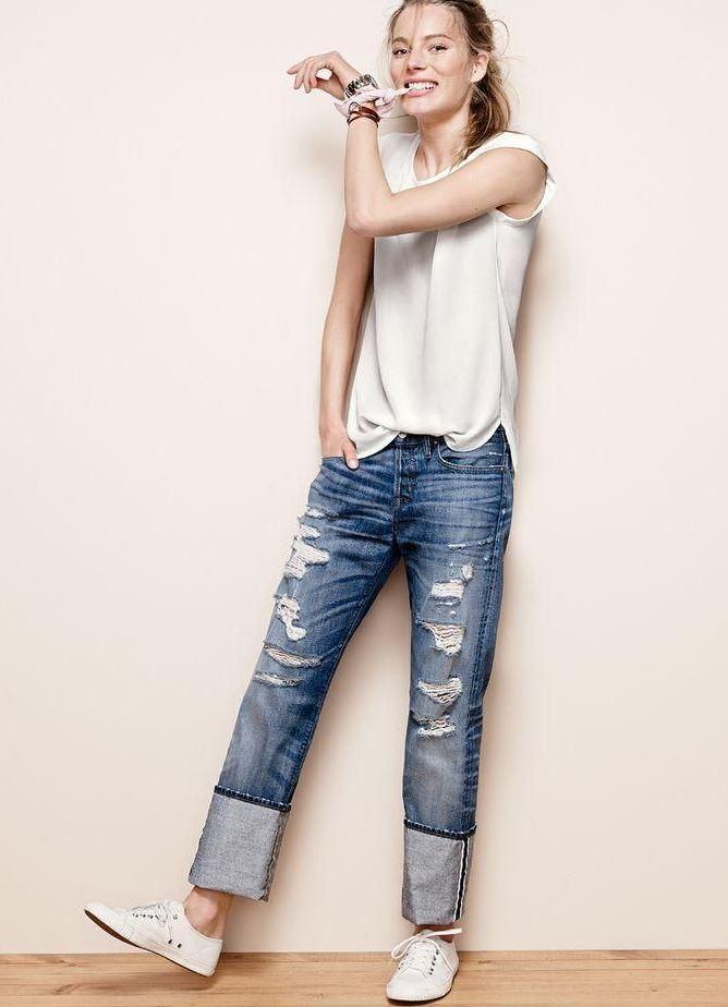 Как сделать подвороты на джинсах девушке если они широкие 259