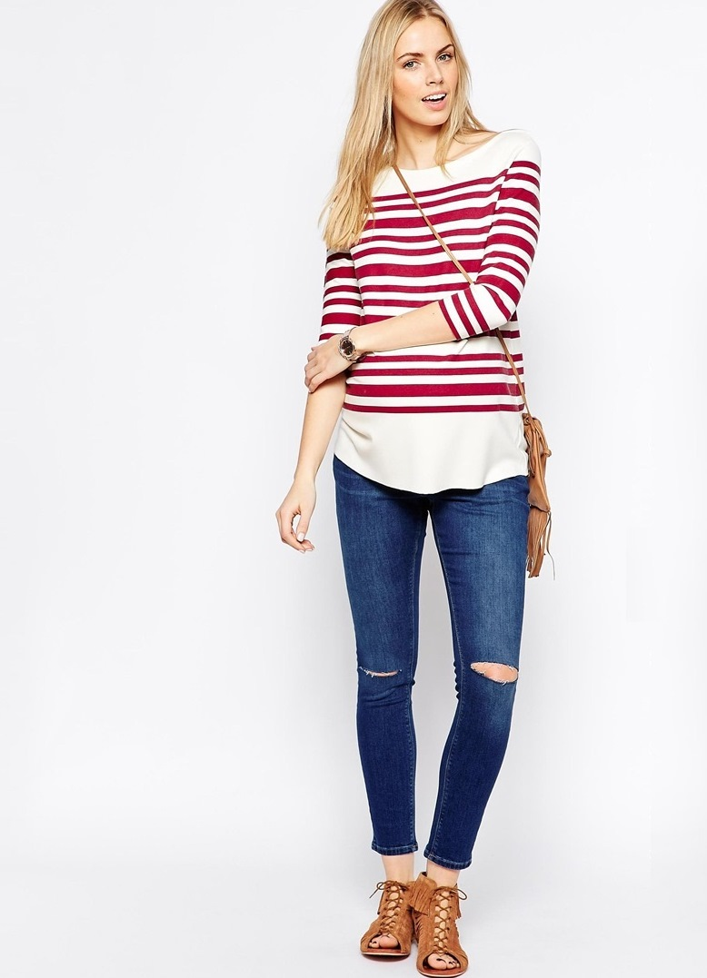 Рваные джинсы для беременных 30b130c4246