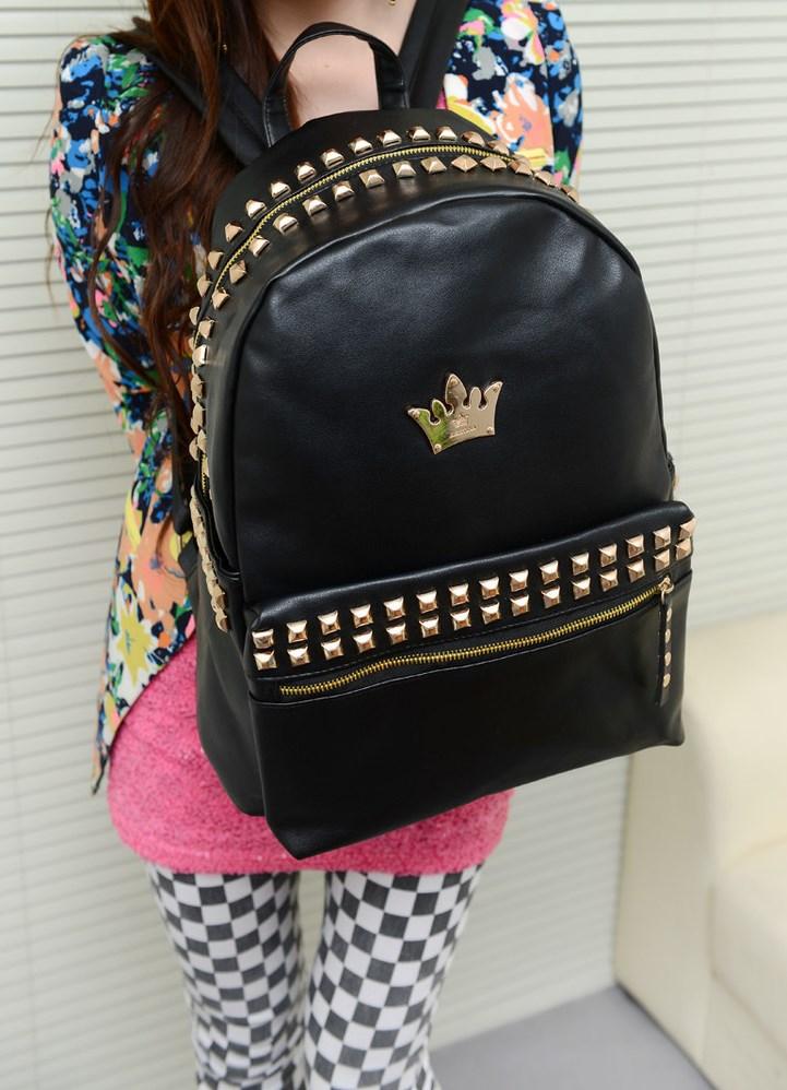 Молодежный рюкзак для девушки с шипами мб дизайн эргорюкзак инструкция