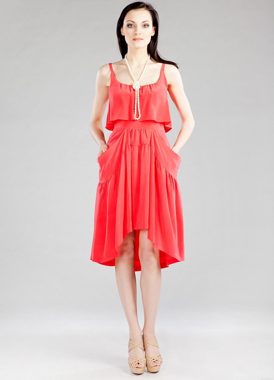 С чем носить коралловое платье: обувь и аксессуары для яркого платья (фото)