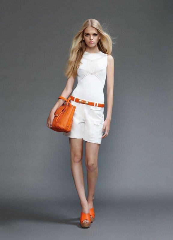 Оранжевые туфли с чем носить фото
