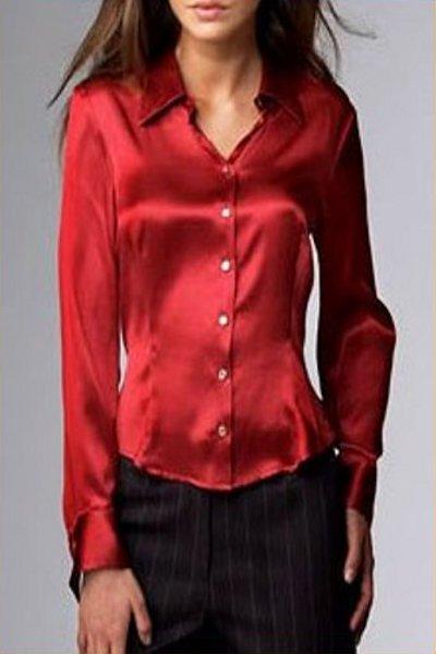 a432cc63d51 Женские шелковые рубашки