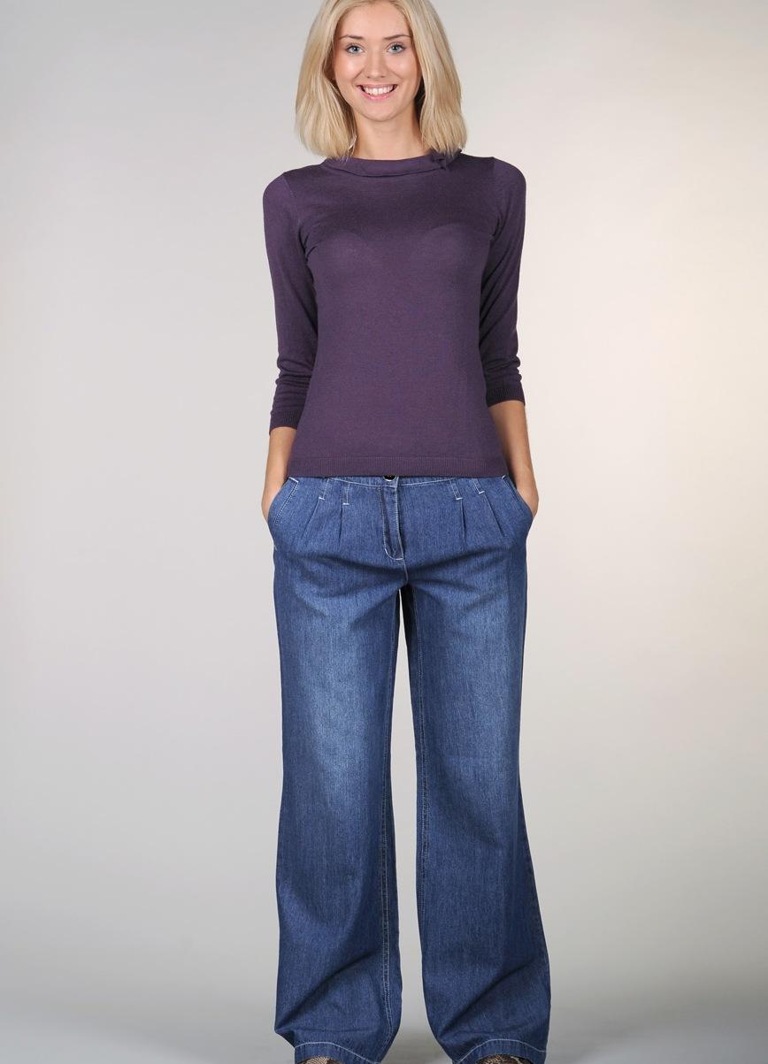 джинсы женские широкие фото