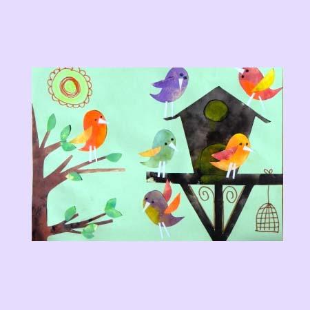 Аппликации птицу из бумаги своими руками 127