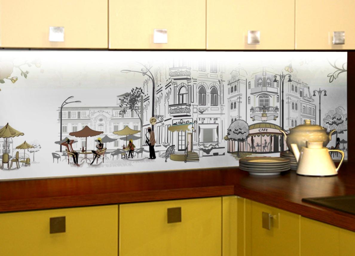 Постеры фартук на кухне