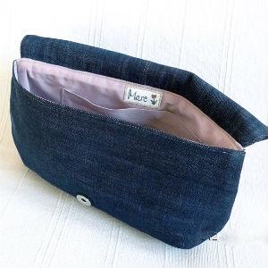 Как сшить сумку клатч из джинсов