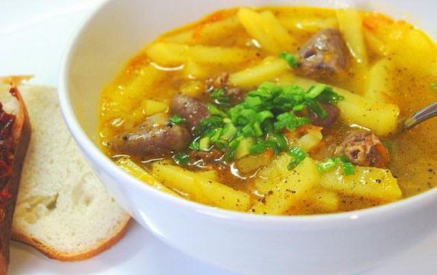 как приготовить суп из куриных сердец