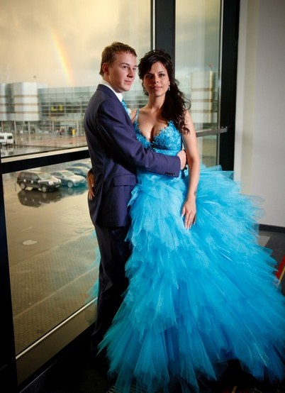 edd5f91fa84 ... Бирюзовое свадебное платье 6
