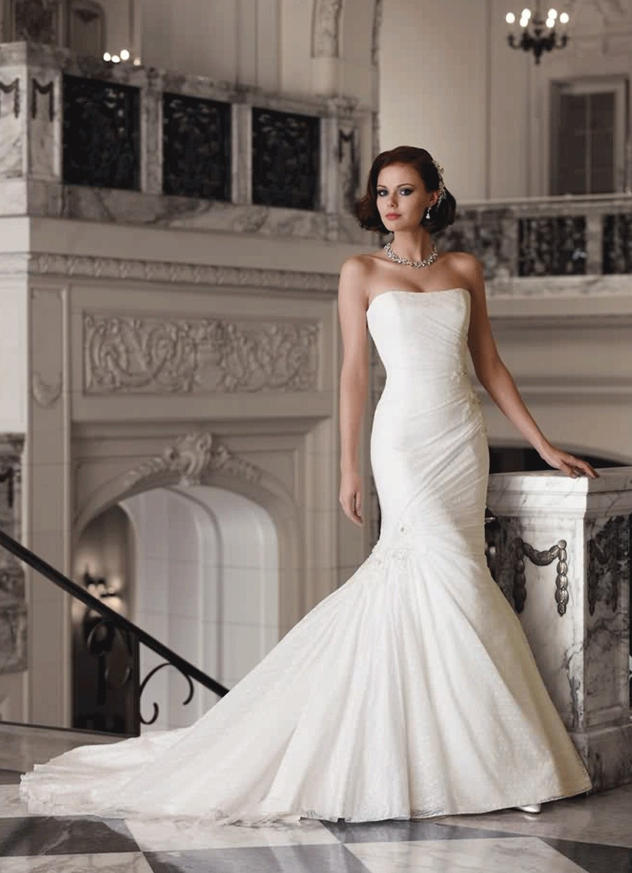 свадебные платья со шлейфом рыбка фото
