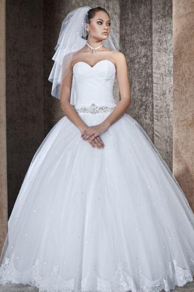 a578ddfe7b0f7a6 Свадебное платье со стразами