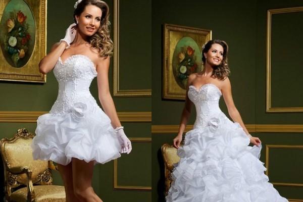 6f6f868c0f9f19 свадебное платье трансформер с отстегивающейся юбкой1, свадебное платье  трансформер с отстегивающейся юбкой2 ...