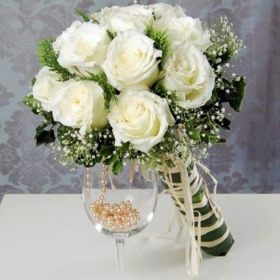 Принц цветы свадебные букеты каскадом для невесты цветов г.тараз
