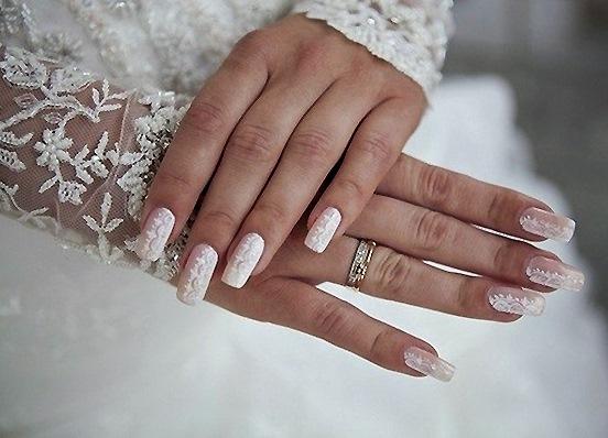 фото свадебный маникюр