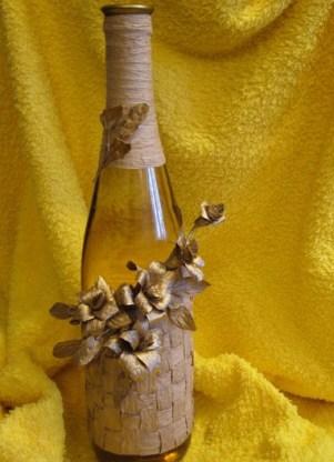 Как украсить бутылку своими руками краской