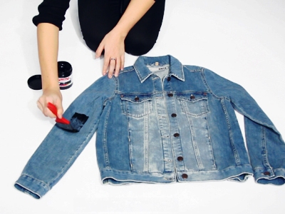 Украшаем джинсовую куртку своими руками фото