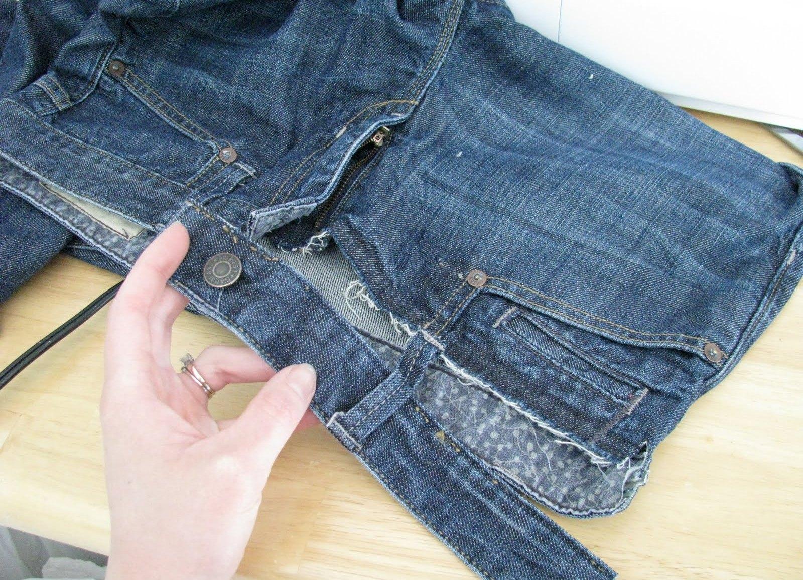 Как сшить из джинсов джинсы для беременных 972