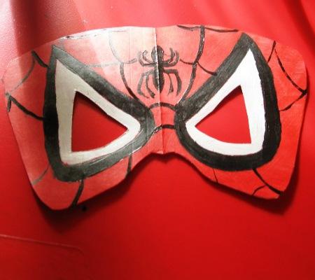Как сделать маску новый человек паук фото 887