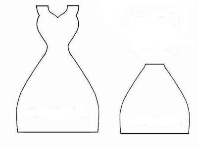 Открытки на 8 марта своими руками платье из бумаги