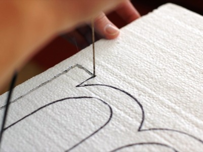 Как сделать объёмные буквы из пенопласта своими руками 2