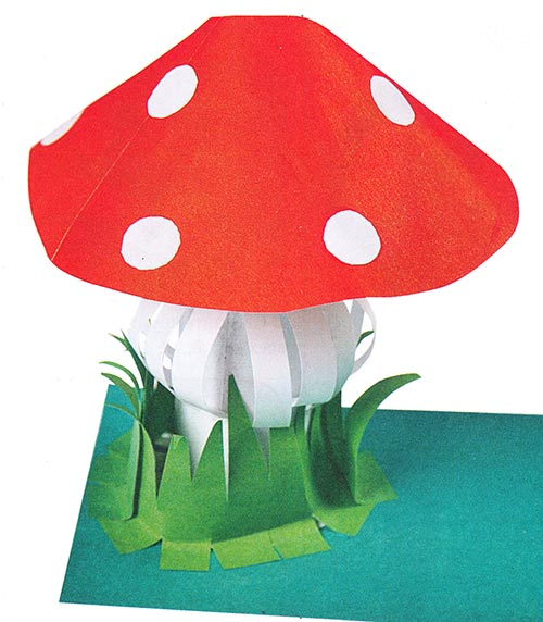 Как сделать гриб из бумаги фото 416