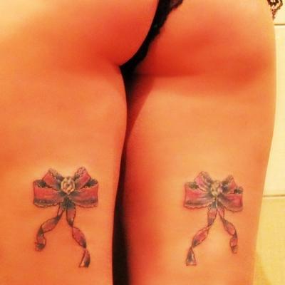 Тату бантик фото лучших готовых татуировок как идея для тату 6