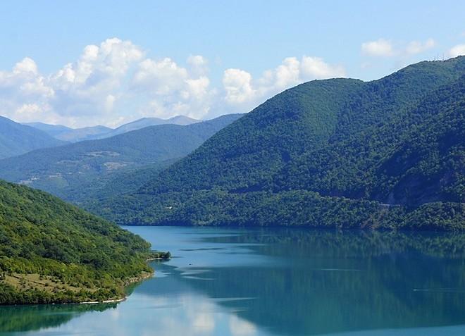 Река Арагви - левый приток Куры